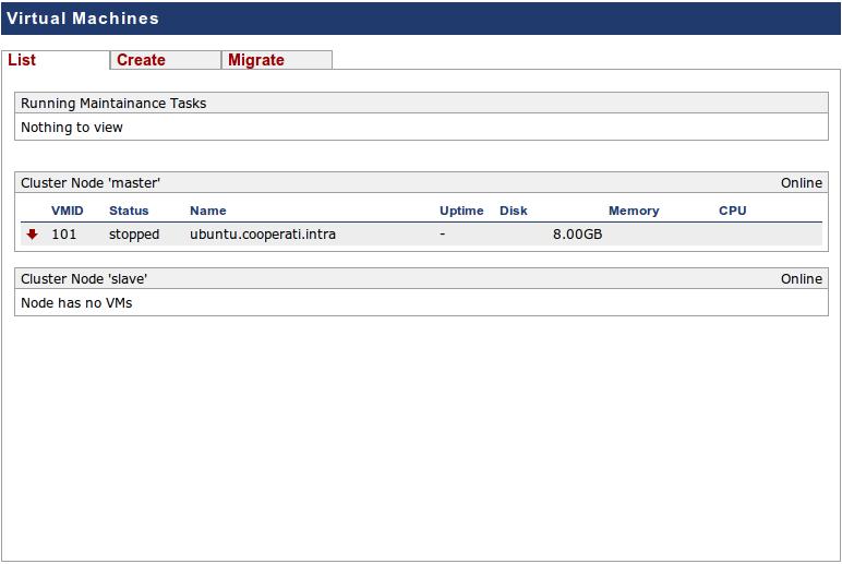Criando uma Virtual Machine com Proxmox VE |